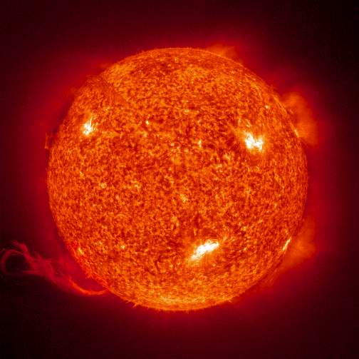 Ultraviolet image of the Sun (Credit: SOHO-EIT)