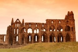 The ruins of Whutby Abbey, where the Synod of Whitby took place
