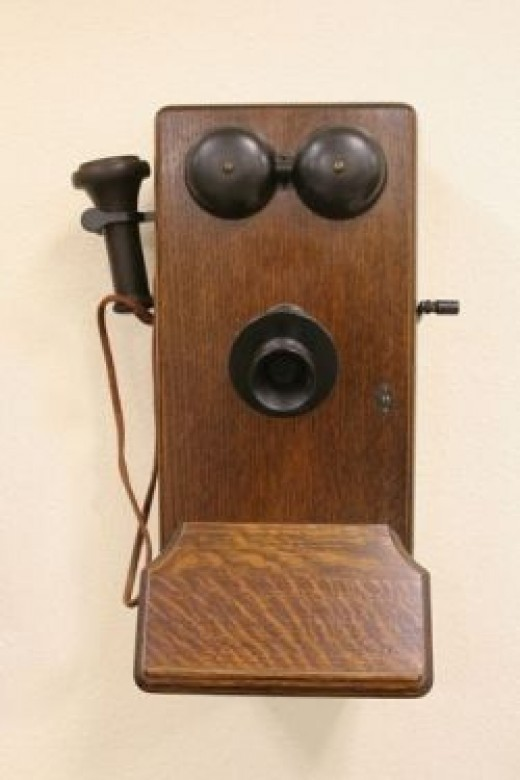A very early telephone model