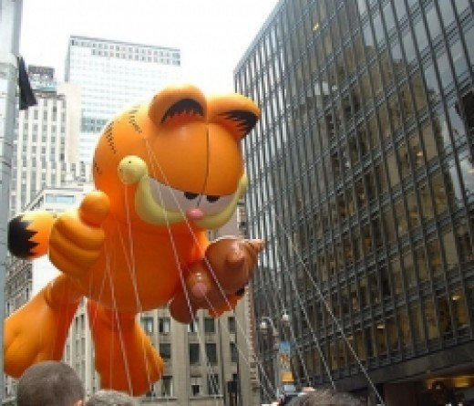 Garfield Balloon in the Macy's Day Parade