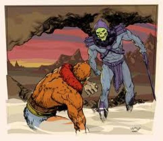 Beastman and Skeletor