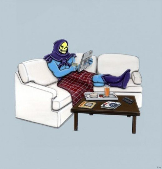 Skeletor In His Down Time