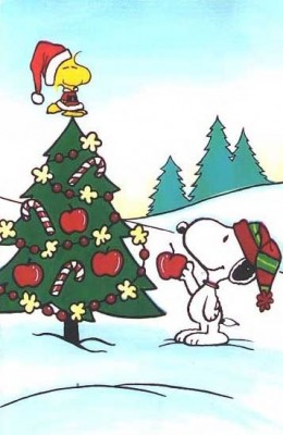 Snoopy Woodstock Christmas Tree