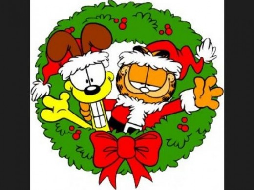 Garfield Odie Christmas Wreath