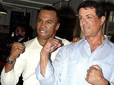Stallone and Ray Leonard