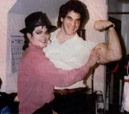 Lou Ferrigno with Michael Jackson
