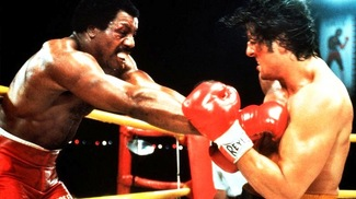 Carl Weathers and Sylvester Stallone
