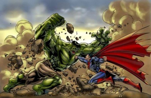 Superman vs the Hulk