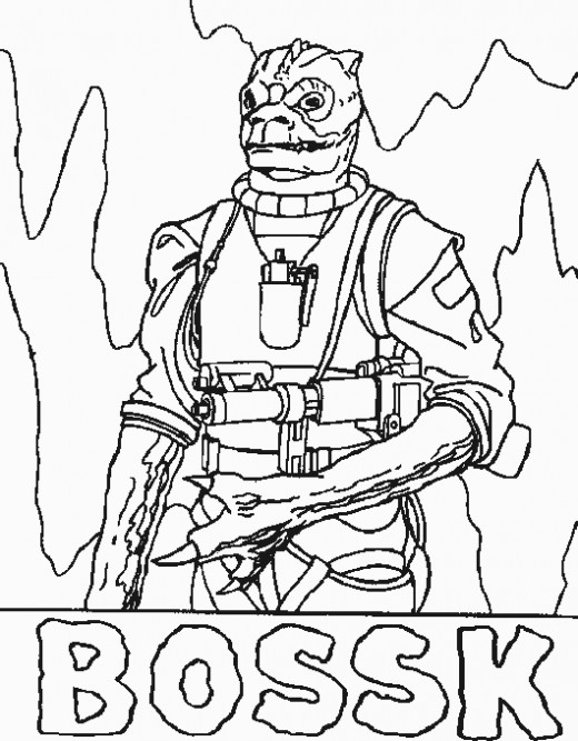 Bossk Coloring Page