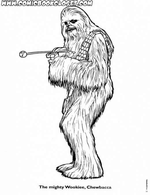 Chewbacca Coloring Page