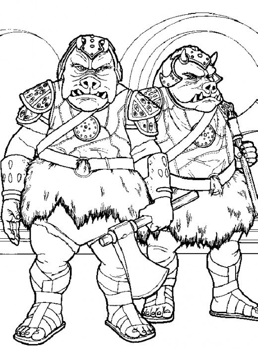 Gamorrean Guards Coloring Page