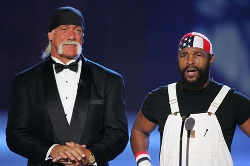 Mr. T and Hulk Hogan