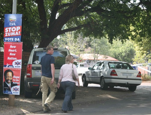 Voters entering a voting station