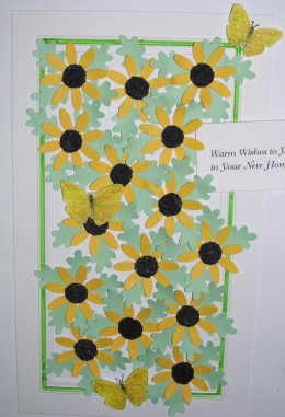 For a new home -sunny sunflowers and filled with Your wishes.