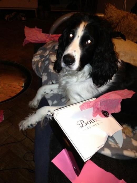 I helped Mummy unwrap her present!
