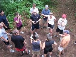 A group at play