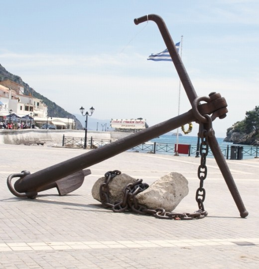 The Anchor is a main feature located in the bay area of Parga town, it is absolutely huge and is a great attraction.
