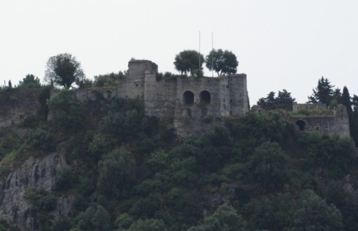 Parga castle taken from the bay area.
