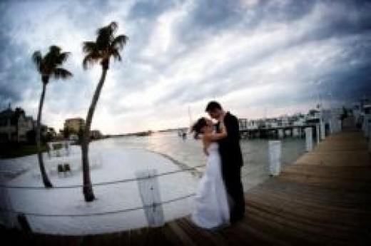 Private beach wedding gazebo at Isla Del Sol in St Petersburg, FL