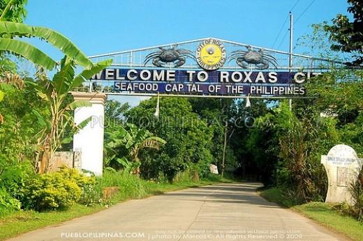 Roxas City, Capiz Province.  Named after President Manuel Roxas, Mar Roxas' grandfather.