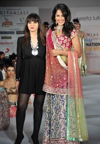Sameera Reddy for Neeta Lulla