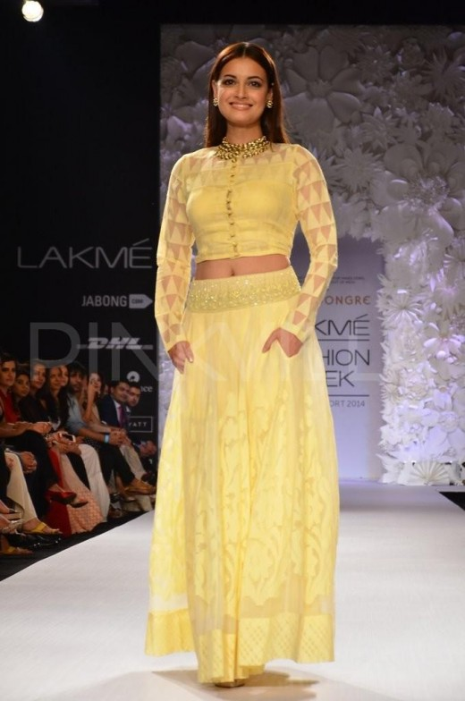Dia Mirza for Anita Dongre Collection at the Lakme Fashion Week 2014