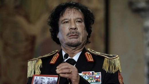 Former Libyan President Muammar Gaddafi