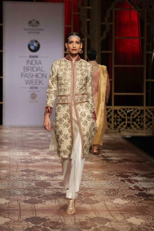 On the ramp at the BMW India Bridal Fashion Week 2014