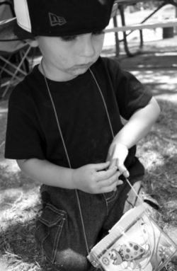 Bryson with his Ladybug Catcher