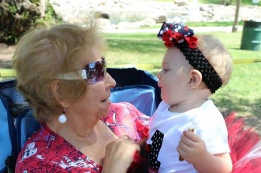 Brooklyn With her Great Grandma! (Moo Moo)