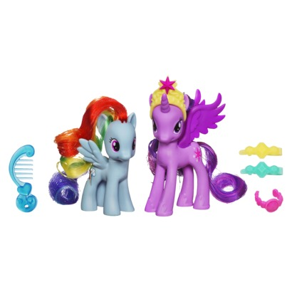 Here are two other ponies you need for your My Little Pony collection: Rainbow Dash & Crystal Twilight.
