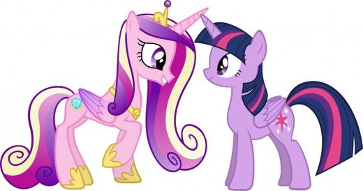 Here is Twilight Sparkle with Princess Cadance again.