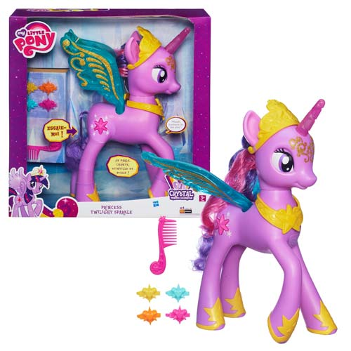 This is My Little Pony Feature Princess Twilight Sparkle as she appears on the shelf of your local toy store.