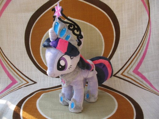 The plush toy-version of Princess Twilight Sparkle.