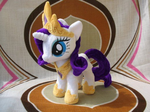 And here is the plush version of Princess Rarity,