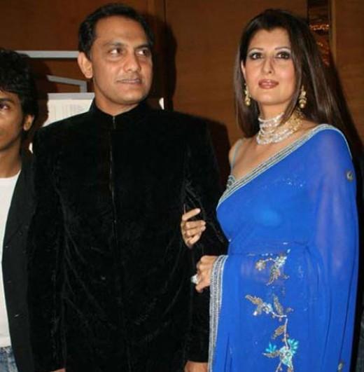 Mohammed Azharuddin and Sangeeta Bijlani