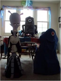 Bob, Galaxar and Giant robot cake!
