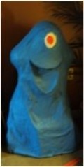 Bob from monsters vs Aliens!!! All papier mache, total cost for Bob and Galaxar ... $6 for extra flour!