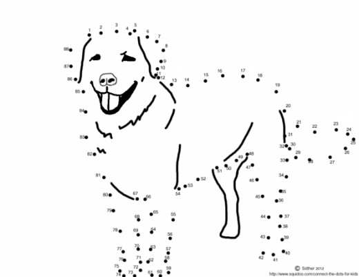 Dog dot to dot activity