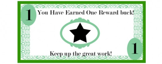 Free Printable reward bucks for kids: Money theme