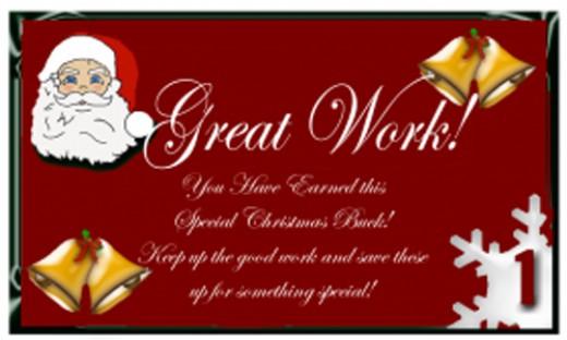 Reward bucks with santa on red free printable reward bucks for kids