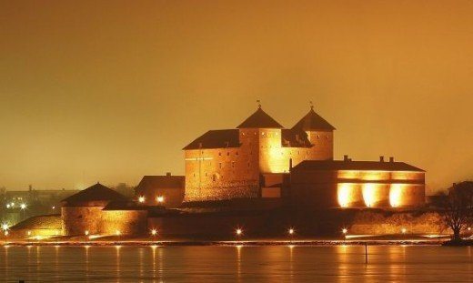 Häme Castle at night. Photo courtesy of MEK Finnish Tourism Board
