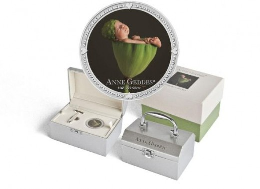 2012 1 oz Silver Niue $2 Anne Geddes Coin Mint Packaging