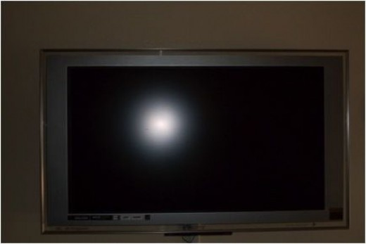 No, this is NOT his tv, this is the family one, my camera's batteries died today!
