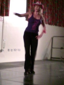 Here is a picture of me doing Zumba at a Charity Event!