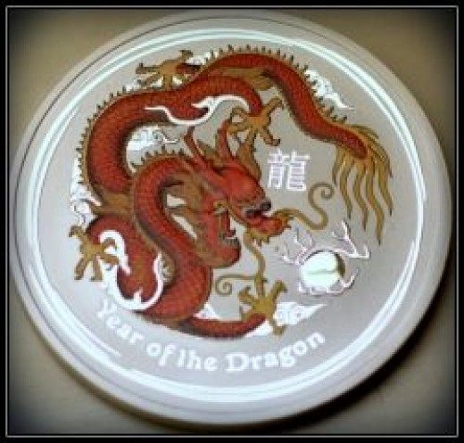 2012 Colored Lunar Silver Dragon