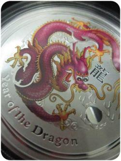 2012 ANDA Brisbane Purple Silver Dragon by the  Australian Perth Mint