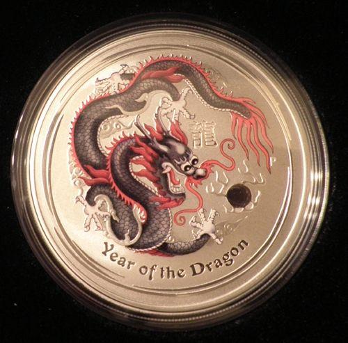 World money fair Australian dragon silver coin release