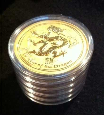 2012 Australian 2 Ounce Gold Dragon Sealed Roll