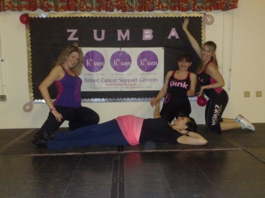 At the Charity Zumbathon Event.